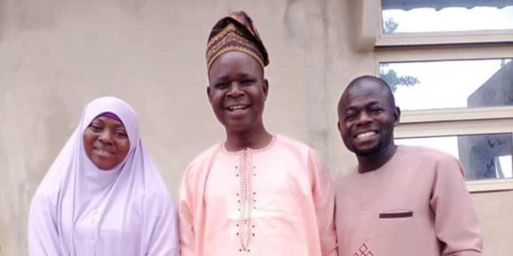 The couple visited their secondary school teacher