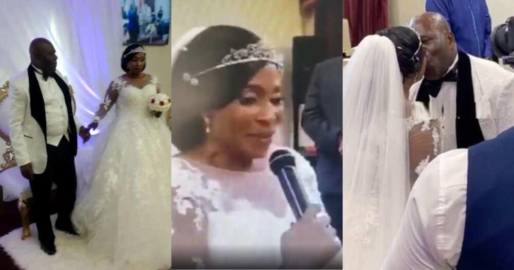 Kyeiwaa wedding: Couple's 1st dance between Kumawood actress and husband pops up online (video)