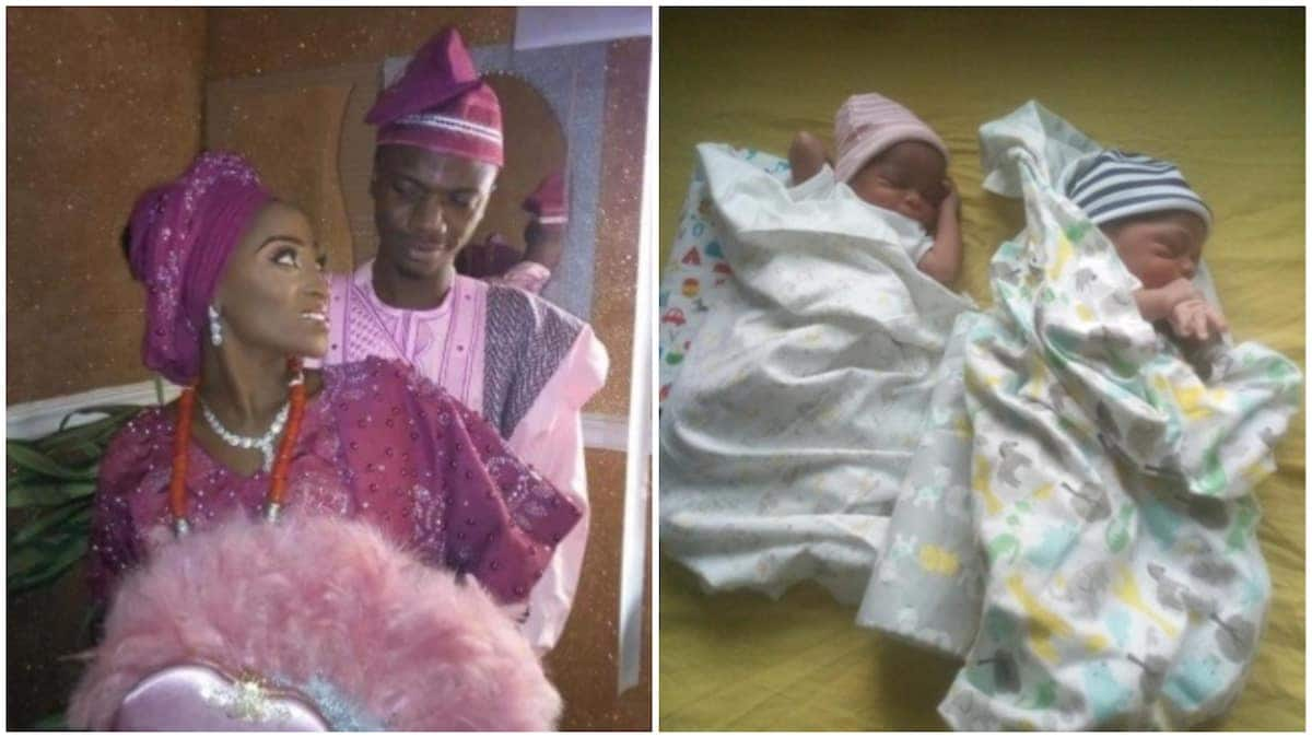 Beautiful photos emerge as couple who met on Twitter weds; welcomes set of twins within one year