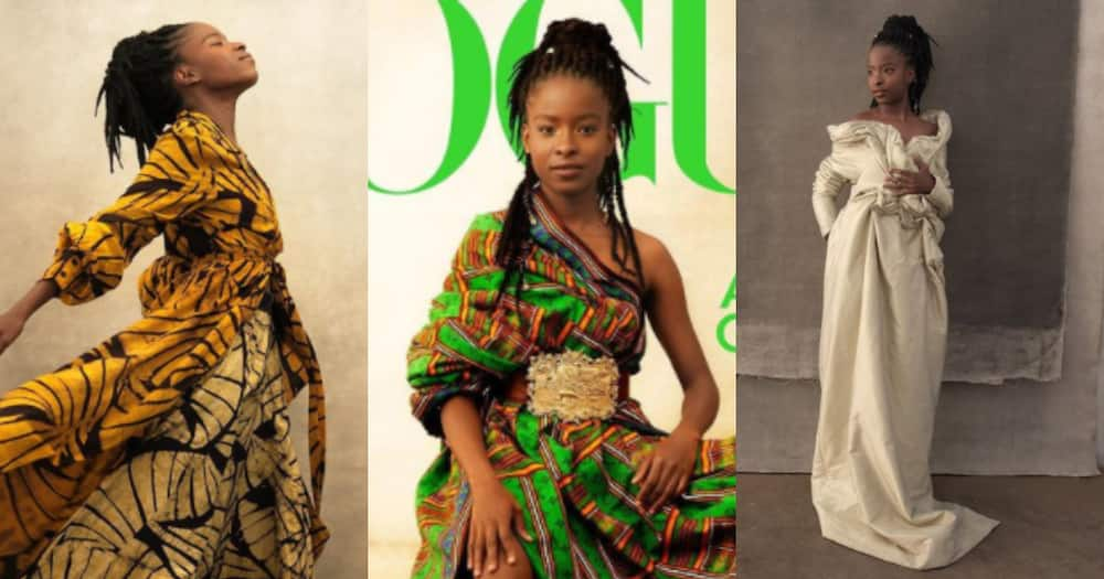 Amanda Gorman glows in Kente gown as she becomes first poet for Vogue cover