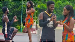 Handsome man proposes to pretty girlfriend; viral photos, video heap mixed reactions