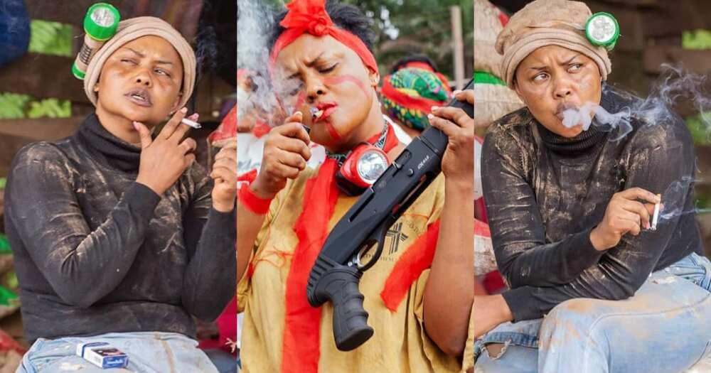 McBrown: Photos of actress smoking on movie set stir reactions