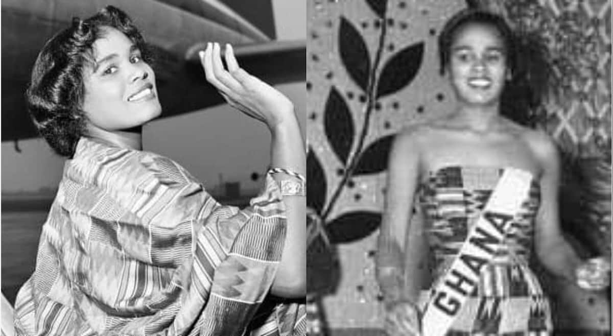Photos of Miss Ghana Queen with fine legs on Miss World stage in 1959 causes stir