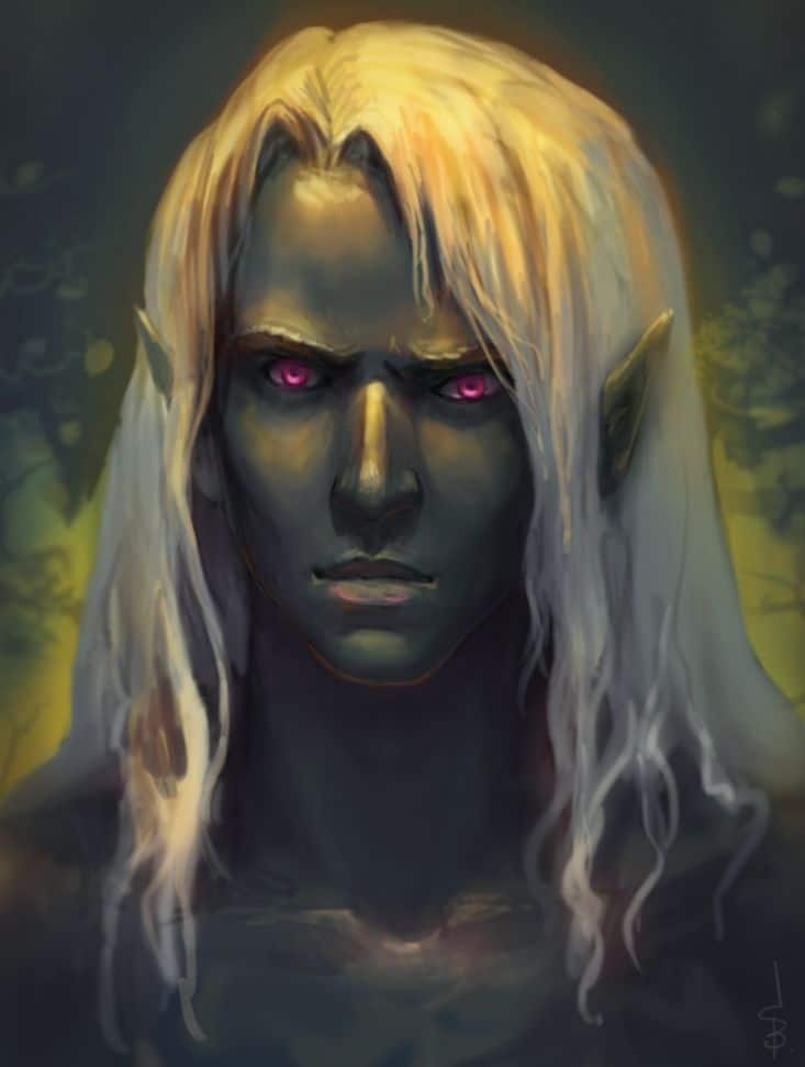 Drow names for the dark elves in Dungeons & Dragons