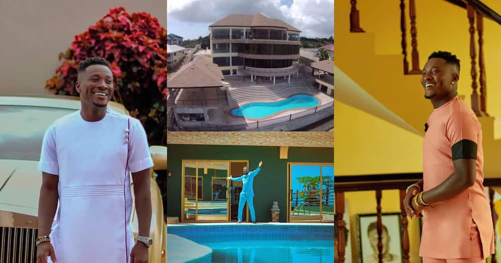Asamoah Gyan flaunts expensive mansion and cars on his birthday