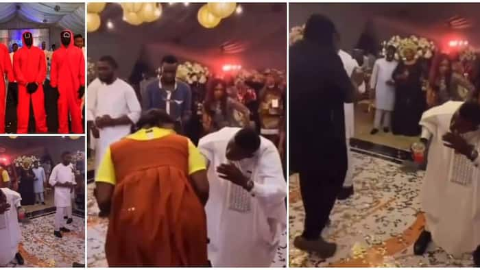 Man wears gown as wedding guests play Squid Game at reception; video drops