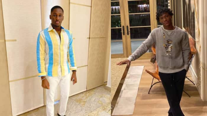 Abraham Attah storms Ghana and links up with Despite's son Saahene Osei; photos drop