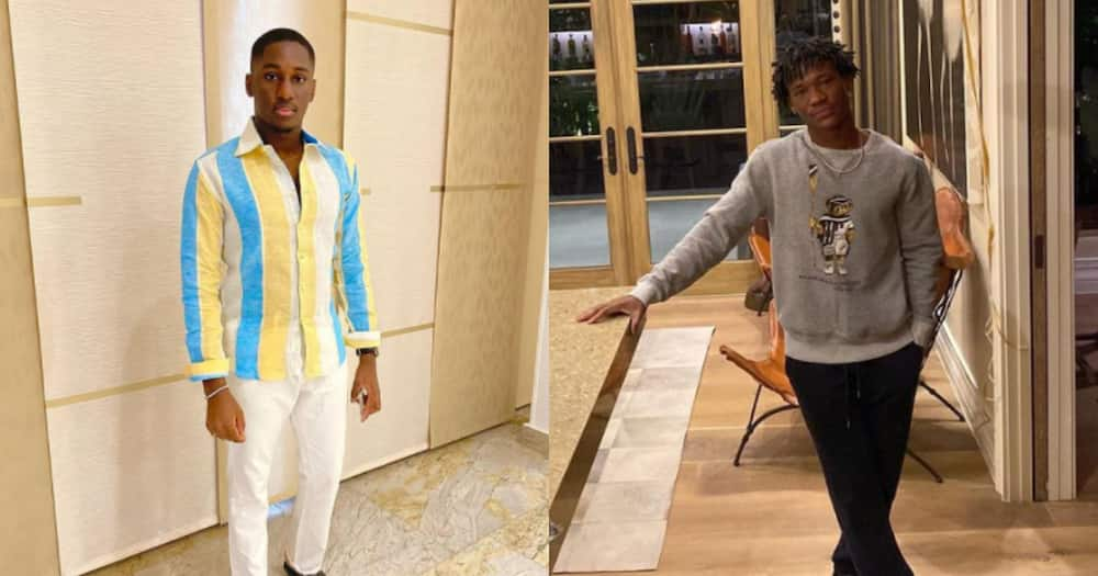 Abraham Attah and Saahene Osei spotted in video having fun with pretty ladies at a party