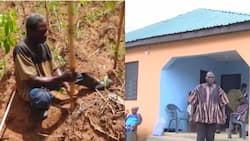 Visually-impaired GH farmer who couldn't afford to stop living in mud house given new house