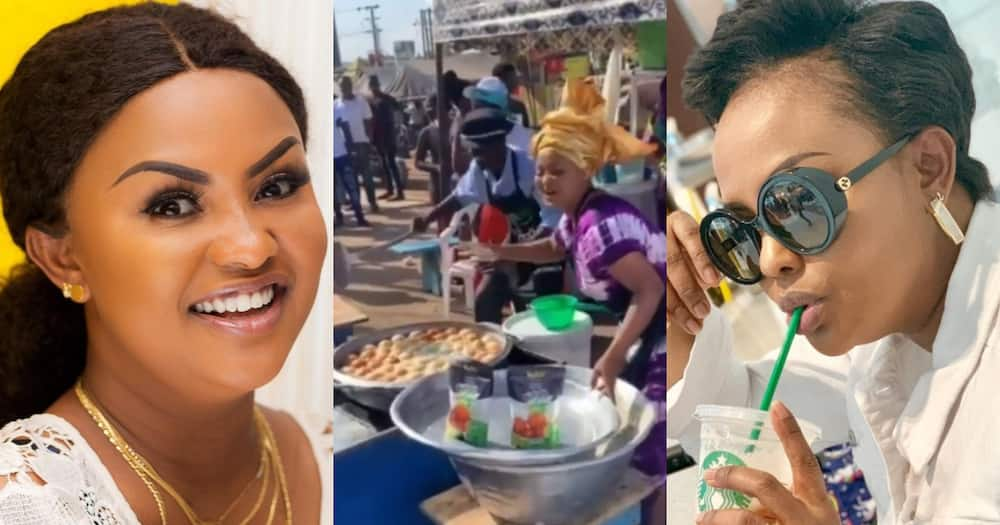 McBrown: Actress Prepares 'Bofroat' and Fries in Public with Lil Win; Video Drops