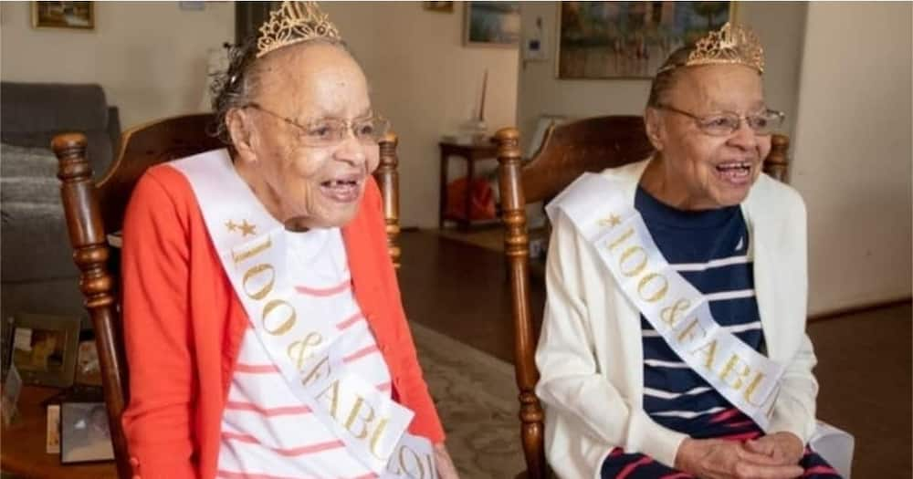 Twin Sisters Showered with Gifts During Their 100th Birthday Celebration