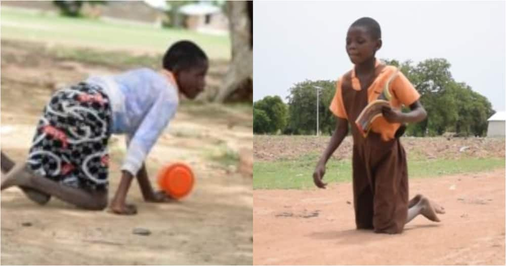 Agnes Mba: Meet the 9-year-old disabled girl who crawls 2km to school and back home daily