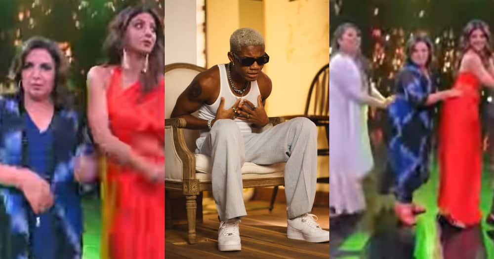 """""""Grace;"""" KiDi 'shouts' as he reacts to top Indian stars dancing to his song 'Touch It' in new video"""