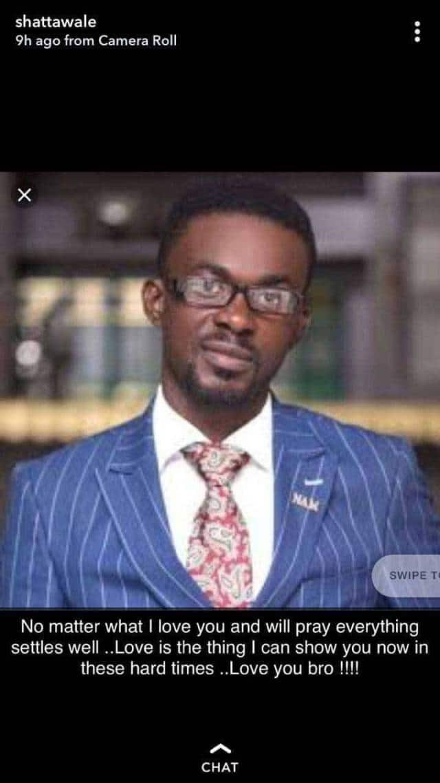 Shatta Wale prays for NAM 1 and sends love in the way of troubled businessman