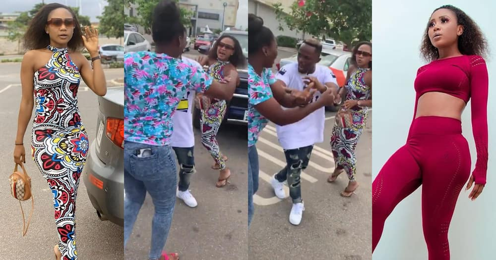 Akuapem Poloo attacked by lady who suspected her of snatching her husband (video)