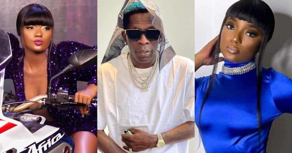 Shatta Wale and Musician Efya kiss in new Video; Ghanaians React in Surprise
