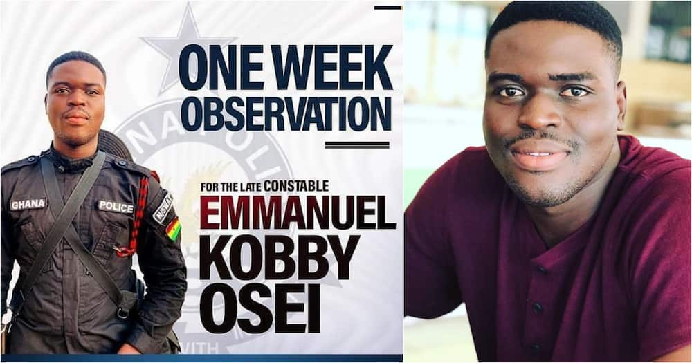 One week poster of Constable Emmanuel Osei