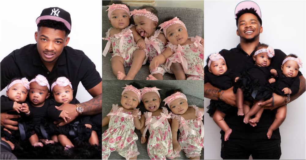 Couple drops beautiful photos of triplets to celebrate babies turning 6 months old, many react