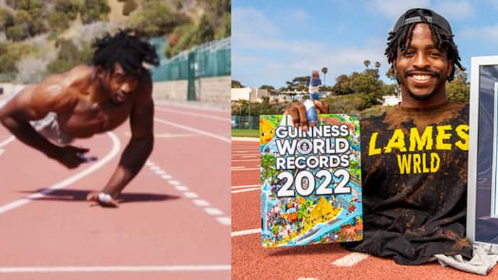 Zion Clark: Athlete born without legs sets Guinness World Record for fastest 20m on 2 hands