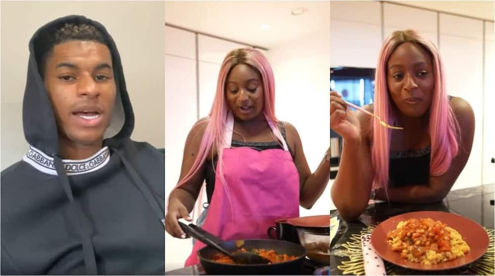 Man United Superstar Challenges DJ Cuppy to a Cooking Show and She Doesn't 'Fall Her Hand'