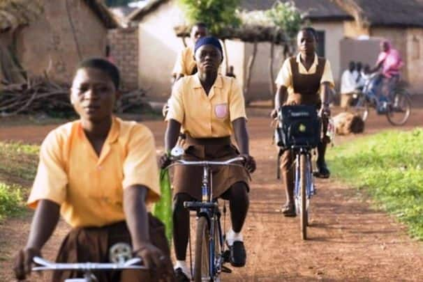Coffee company transforms used pods into bicycles; donates half to schoolgirls in Ghana