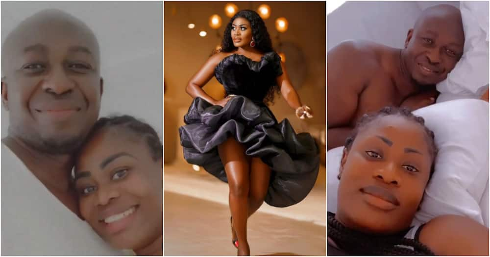 Nana Akua Addo drops bedroom video as she shares romantic moment with her husband