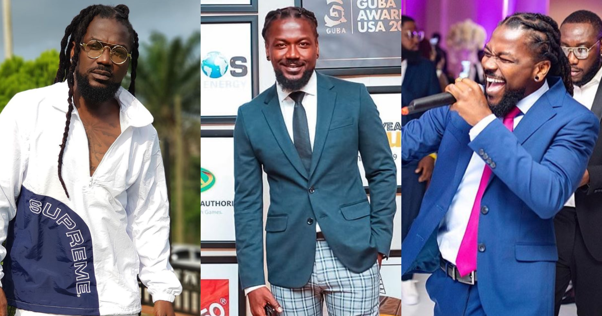 Mighty family man: Photos of Samini's 8 children and first wife surface on the internet