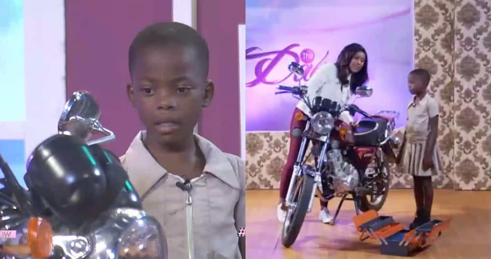 Talented kids: Ghanaian girl who Started Fixing Motorbikes Since age 3 Displays her Talent in Video
