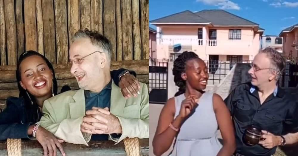 5 photos of Nakuru woman, 28, her 60-year-old German husband