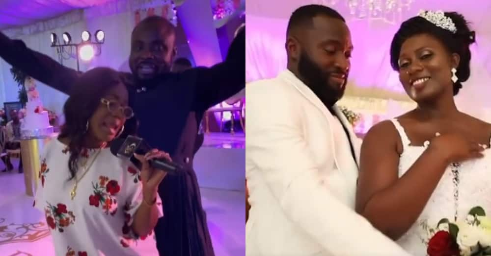 Adorable moment as Mzbel shows up at wedding to surprise couple