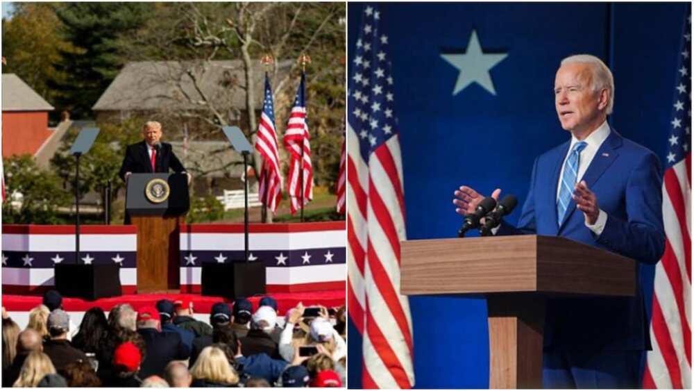 Don't wrongfully claim victory, Trump warns Biden