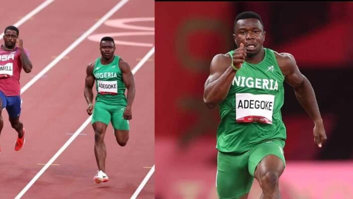 Tokyo 2020: Nigerian athlete Adegoke makes history, beats world's fastest man to qualify for 100m semifinal