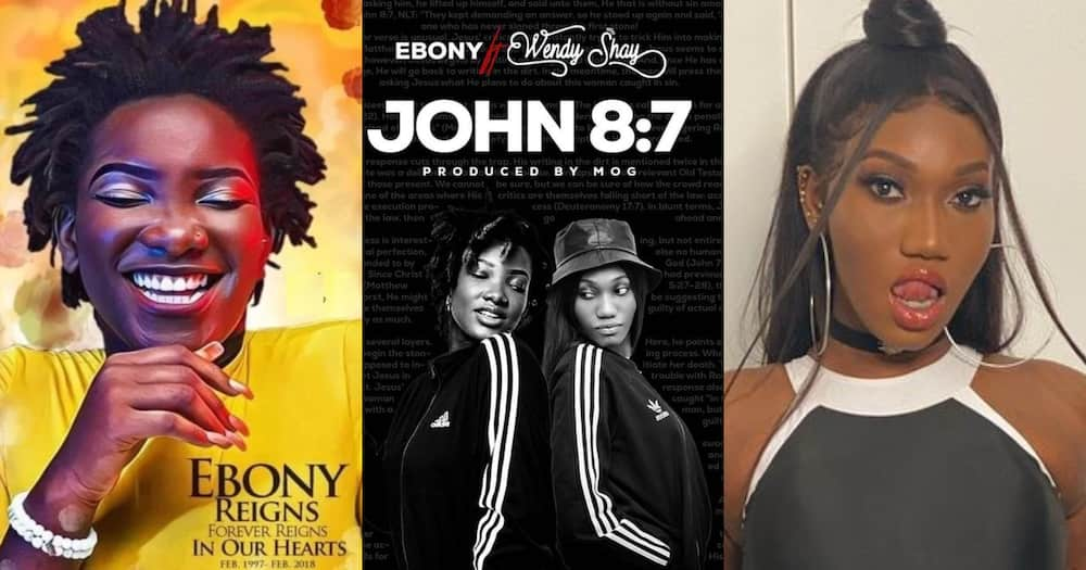 Ebony Reigns Features Wendy Shay On New Song Titled John 8:7; See Photo