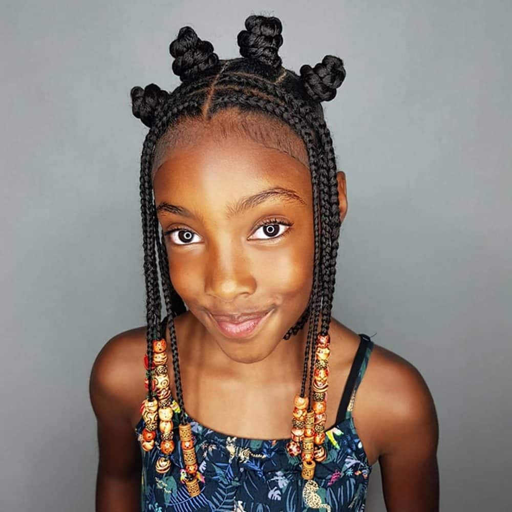 Best 25 Beautiful African Braids for Kids in 2019 ▷ YEN.COM.GH