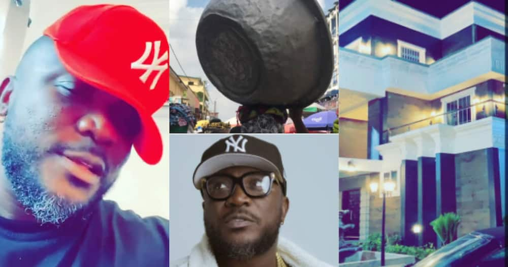 From 'kayayo' to owner of plush mansion: Rapper Nhyiraba Kojo shares grass to grace story (Video)