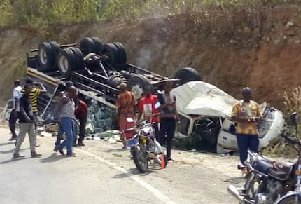 Truck driver miraculously escapes near fatal accident after break failure