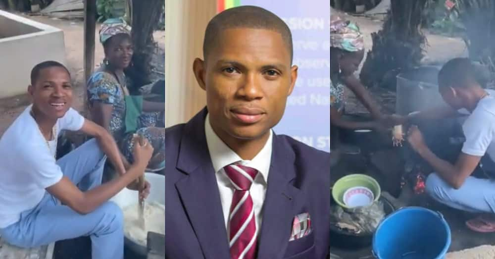 Francis-Xavier Sosu: Madina MP Cooks for his Mother on Mothers' Day in Video