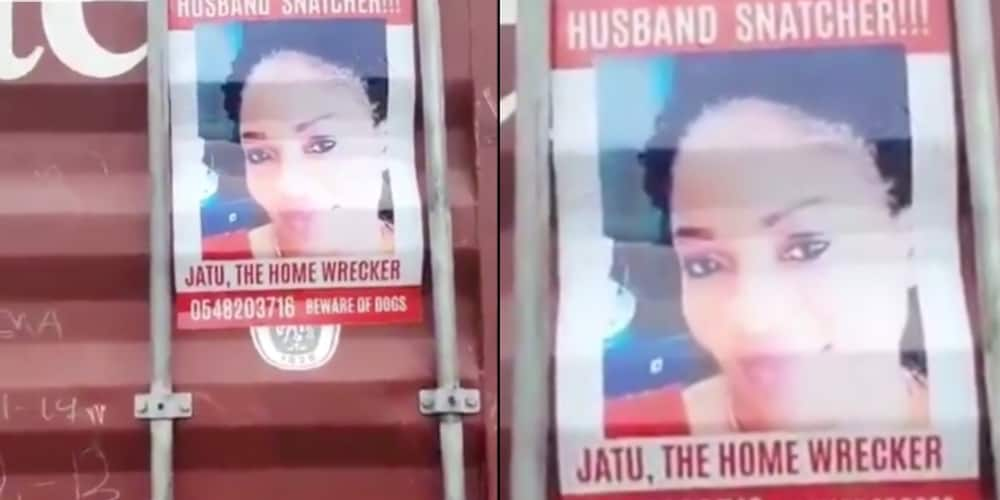 Wife puts photo and contact details of lady trying to snatch her husband in East Legon (video)
