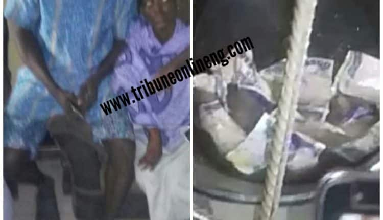 Slay queen allegedly used by 'sakawa boys' for rituals vomits money
