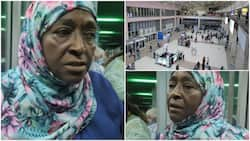 Woman complains bitterly in video after she was charged GHC 7.50 to use trolley at airport