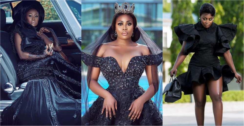 Unedited Photo of Nana Akua Addo's VGMA Dress Drops Online; Fella Makafui Insults one Behind it