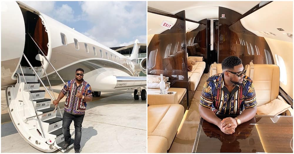 Brand new jet just hopped in! - Davido's brother Adewale says as their family adds to aircraft collection