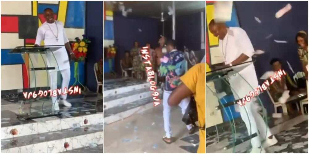 Church members made money rain on their pastor's birthday