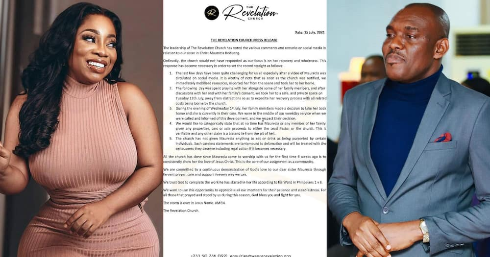 We didn't give her anything to eat or drink - Revelation Church finally addresses Moesha's issue