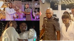 Obinim and wife spoil Obofour's wife with cash at her plush birthday party; videos drop