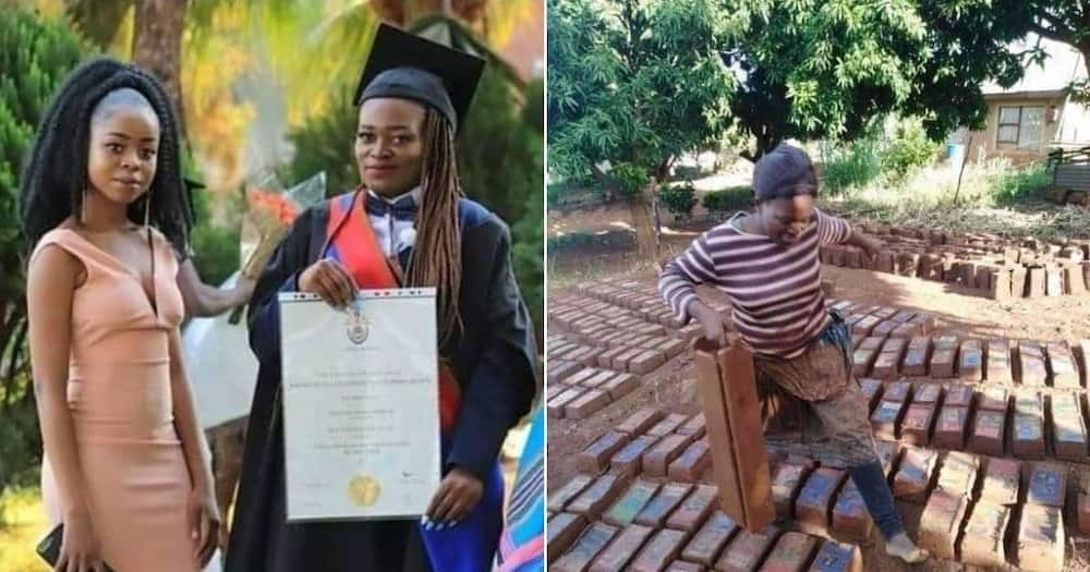Boss lady: Young woman makes own bricks to build her business
