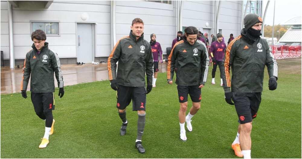 A file photo of Man United players. Photo: Twitter/ManUtd.
