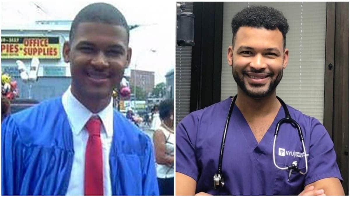 Nurse graduates from NYU years after working there as a janitor