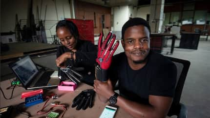 Kenyan innovator invents smart gloves that convert sign language into speech
