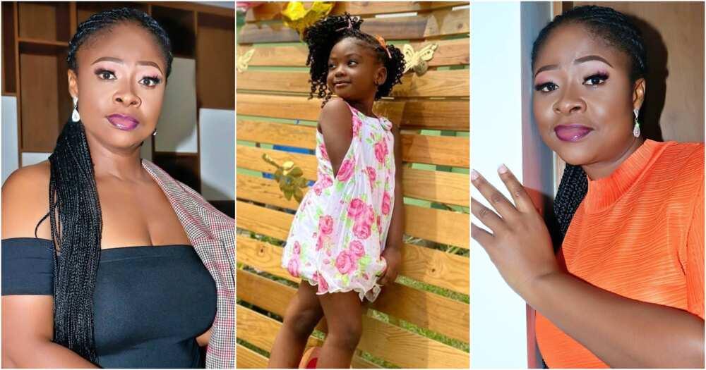 Kumawood actress Portia Asare Boateng and her daughter's photos